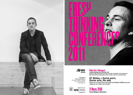 Martin Weigel en Fresh Thinking Conferences en el IED Madrid